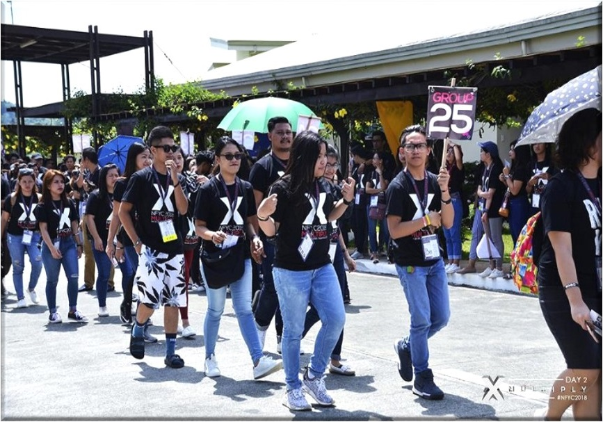 Youth Convention delegates marching out of CCT compound for Evangelism activity in the community.